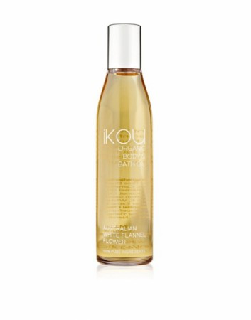 IKOU ORGANIC MASSAGE OIL WHITE FLANNEL FLOWER 130ML
